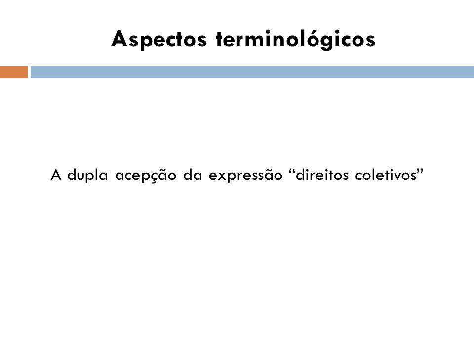 Aspectos terminológicos