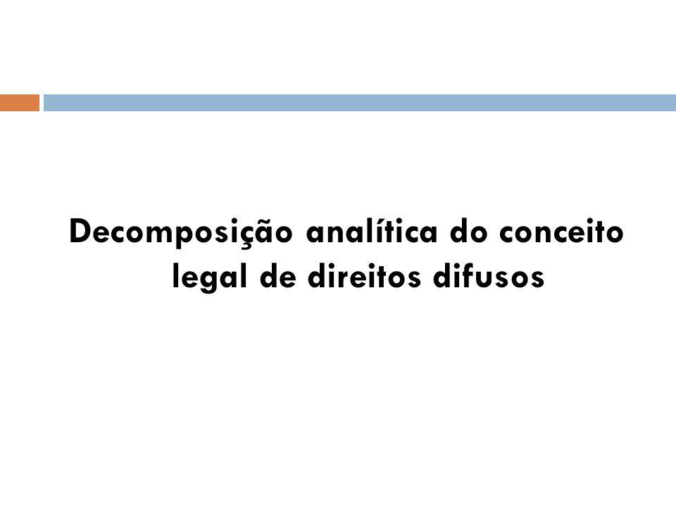 Decomposição analítica do conceito legal de direitos difusos