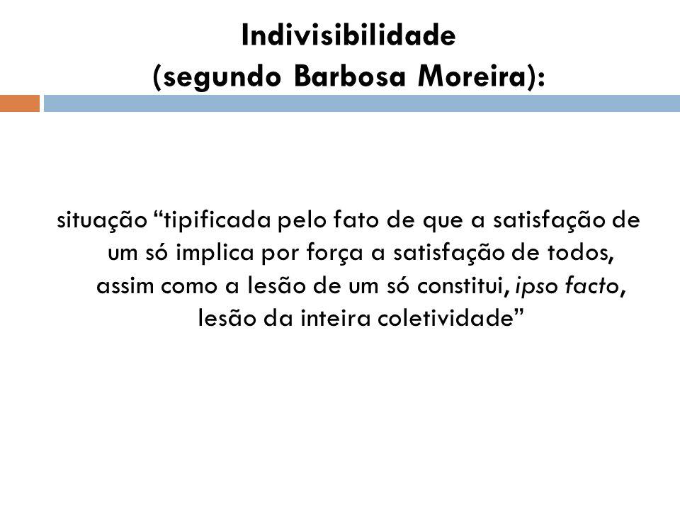 Indivisibilidade (segundo Barbosa Moreira):