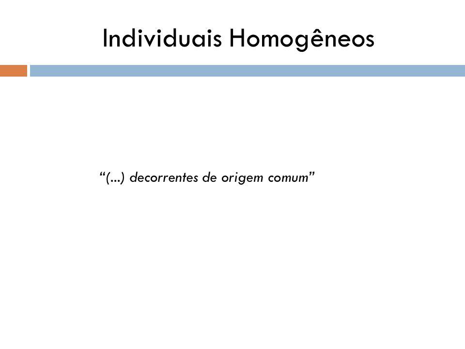 Individuais Homogêneos