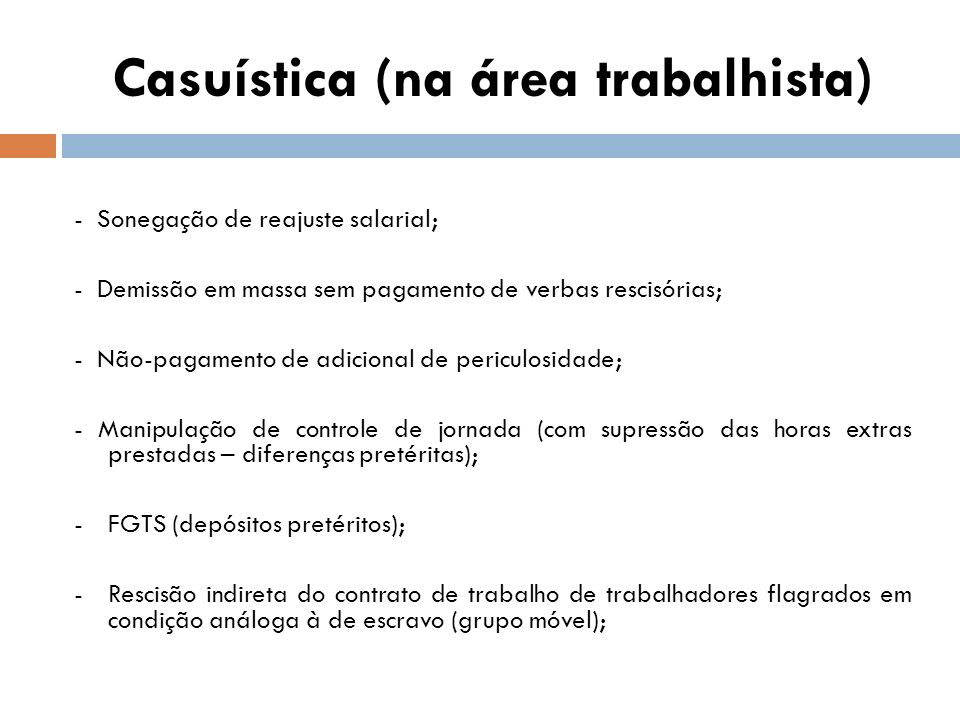 Casuística (na área trabalhista)