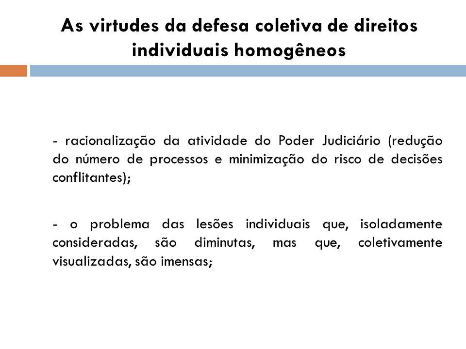 As virtudes da defesa coletiva de direitos individuais homogêneos