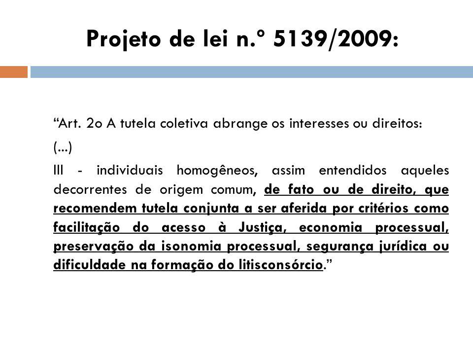 Projeto de lei n.º 5139/2009: