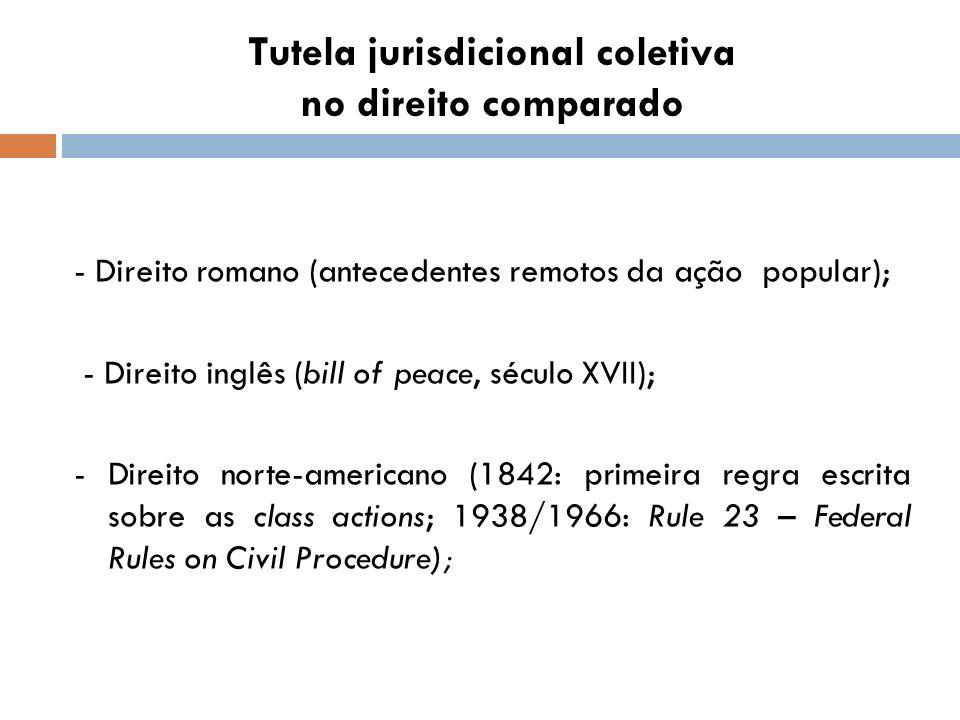 Tutela jurisdicional coletiva no direito comparado