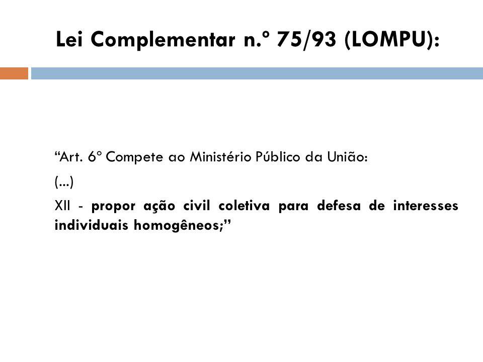 Lei Complementar n.º 75/93 (LOMPU):
