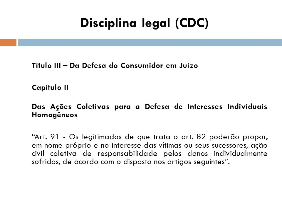 Disciplina legal (CDC)
