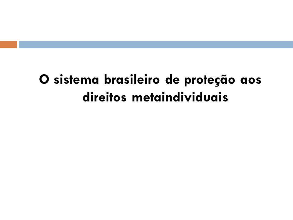 O sistema brasileiro de proteção aos direitos metaindividuais
