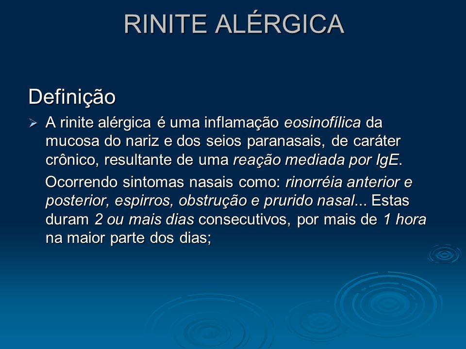 RINITE ALÉRGICA Definição