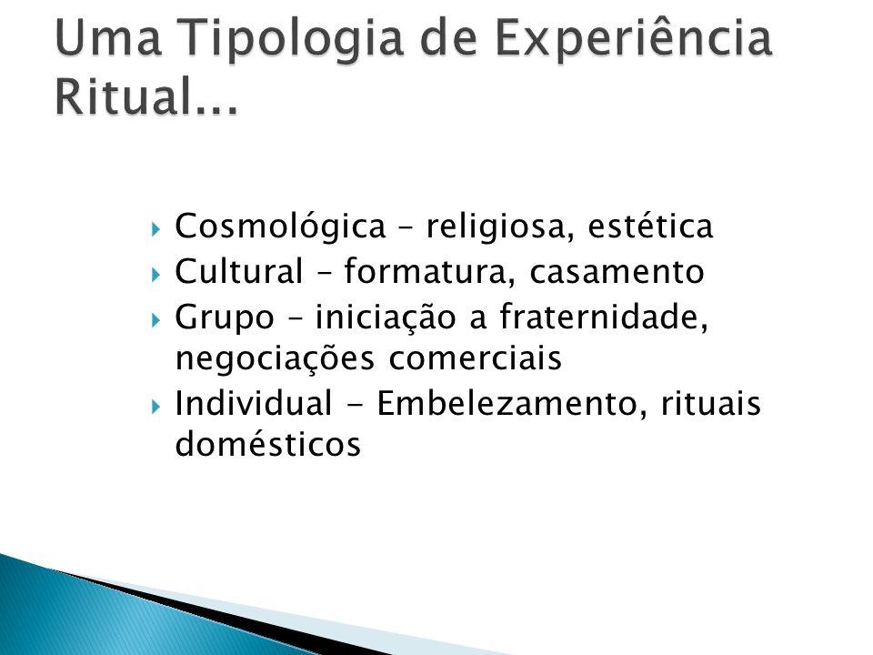 Uma Tipologia de Experiência Ritual...