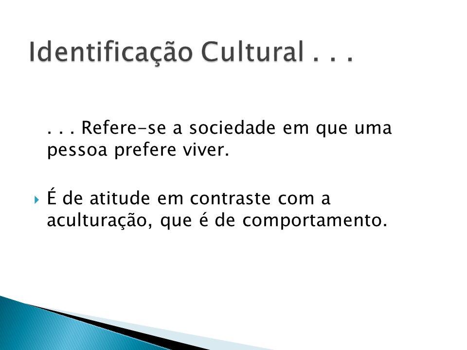 Identificação Cultural . . .
