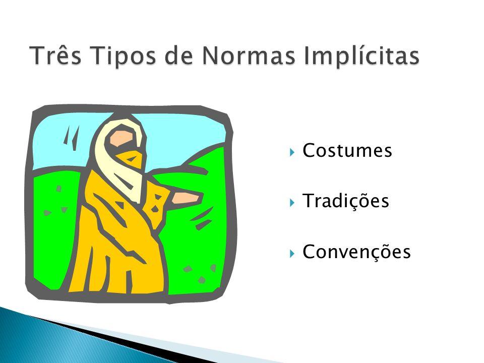 Três Tipos de Normas Implícitas