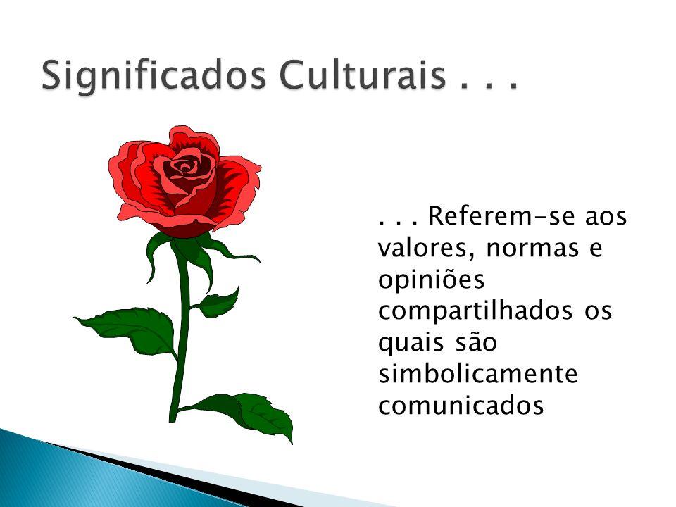 Significados Culturais . . .
