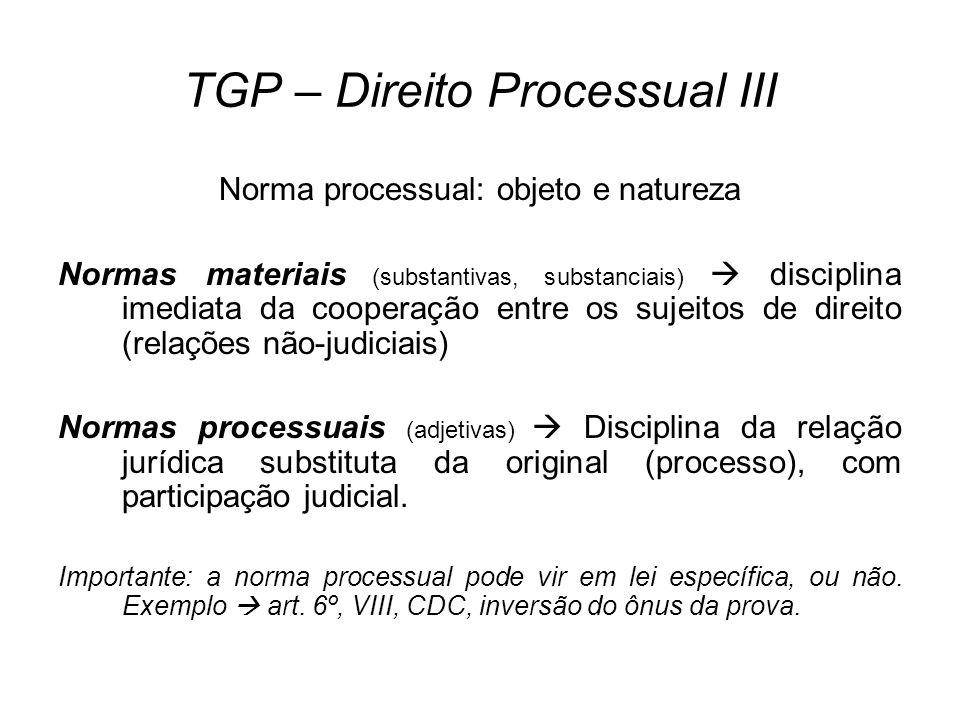 TGP – Direito Processual III