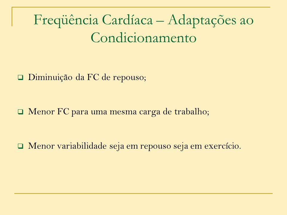 Freqüência Cardíaca – Adaptações ao Condicionamento