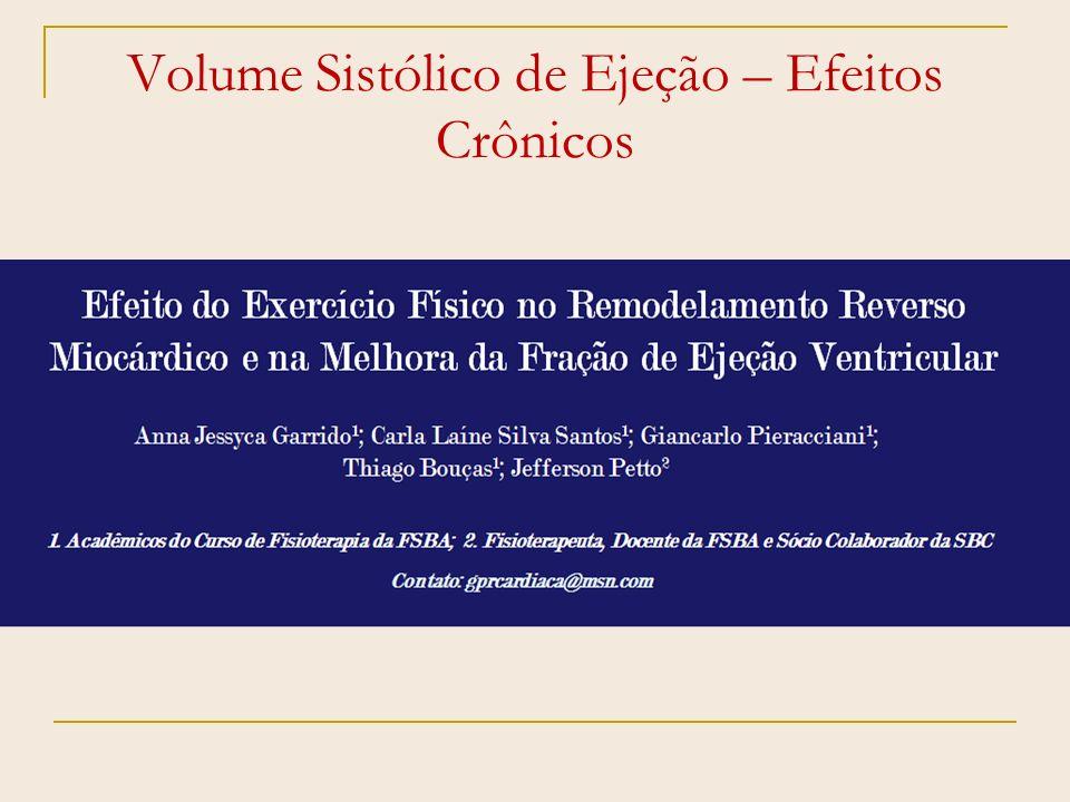 Volume Sistólico de Ejeção – Efeitos Crônicos