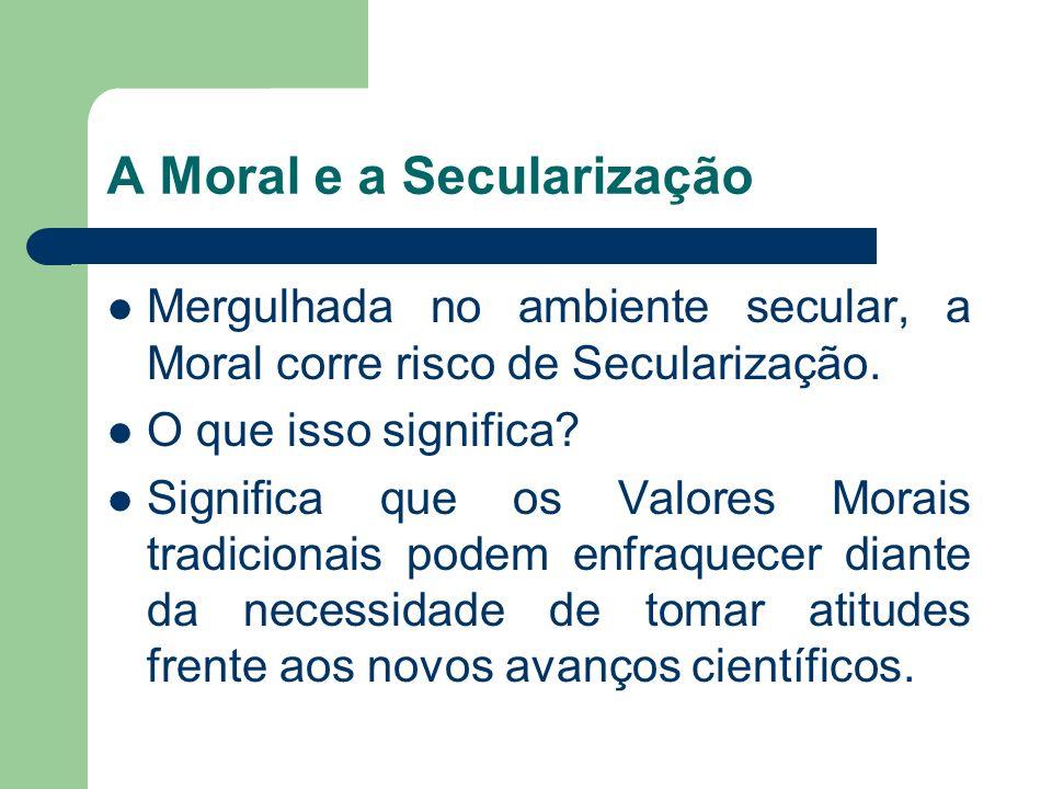 A Moral e a Secularização