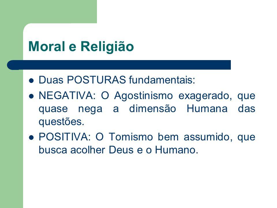 Moral e Religião Duas POSTURAS fundamentais: