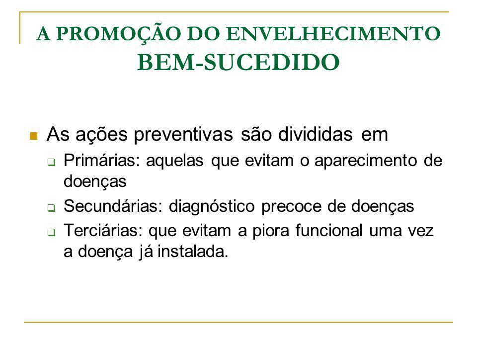 A PROMOÇÃO DO ENVELHECIMENTO BEM-SUCEDIDO