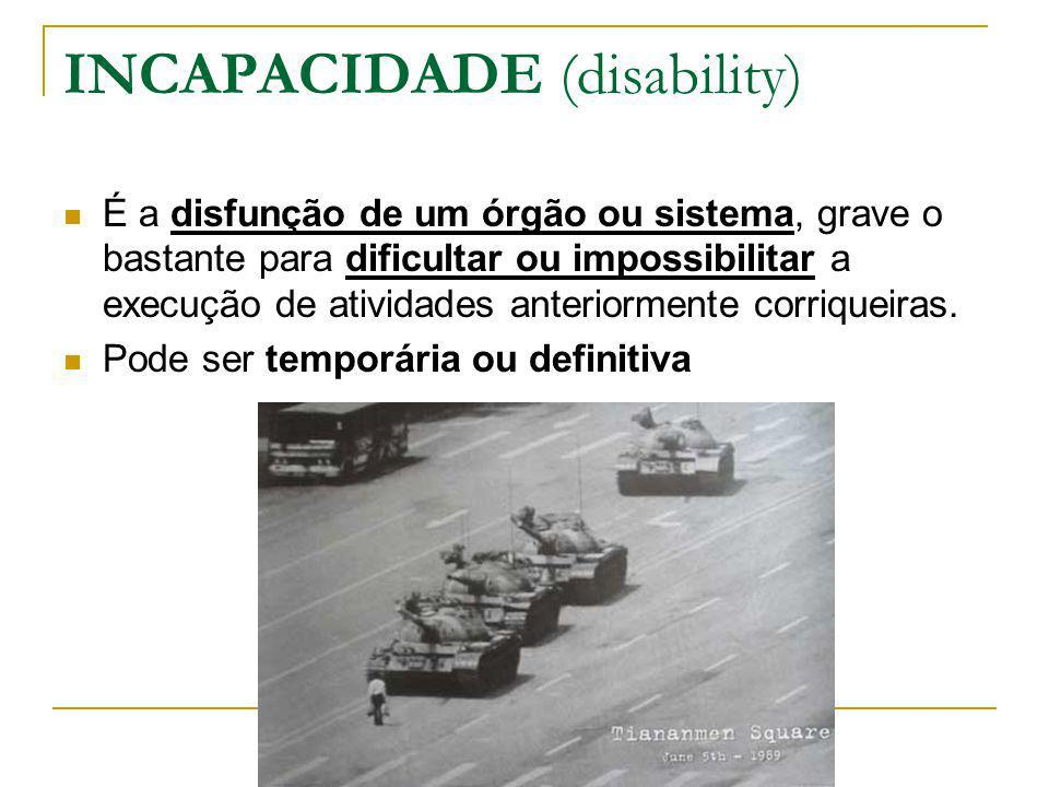 INCAPACIDADE (disability)