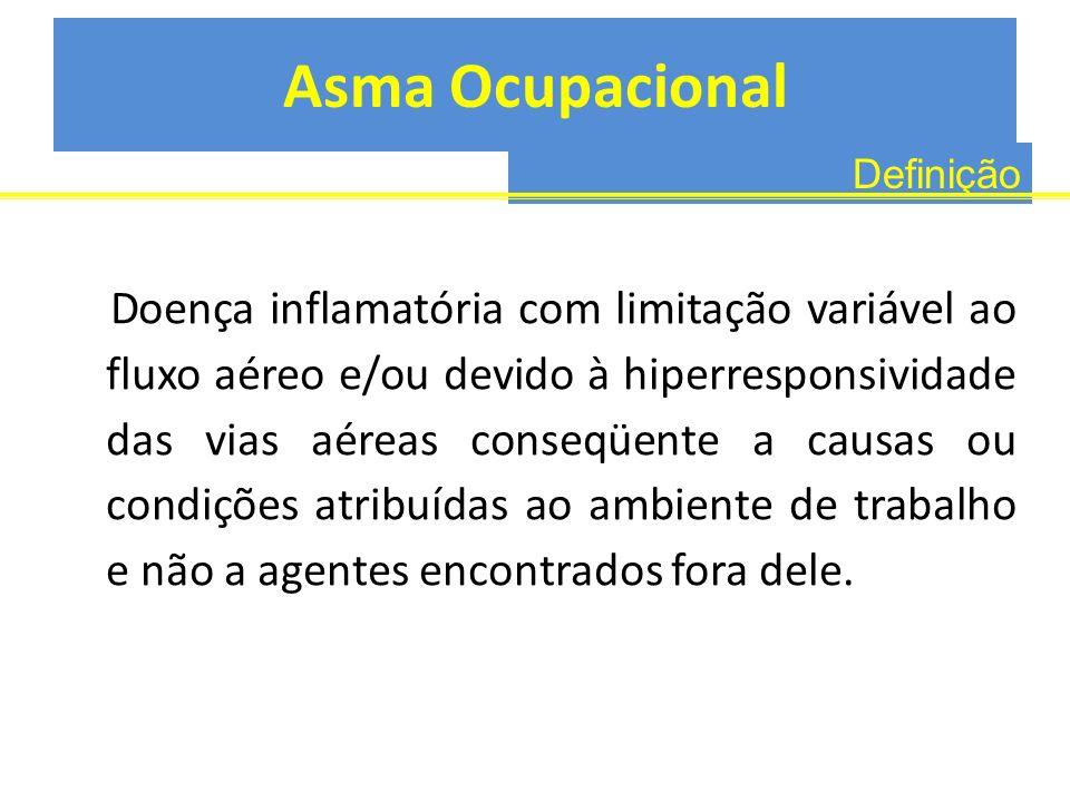 Asma Ocupacional Definição.