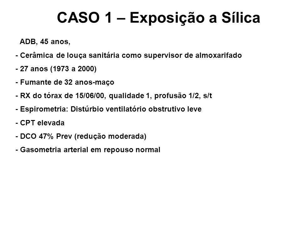 CASO 1 – Exposição a Sílica