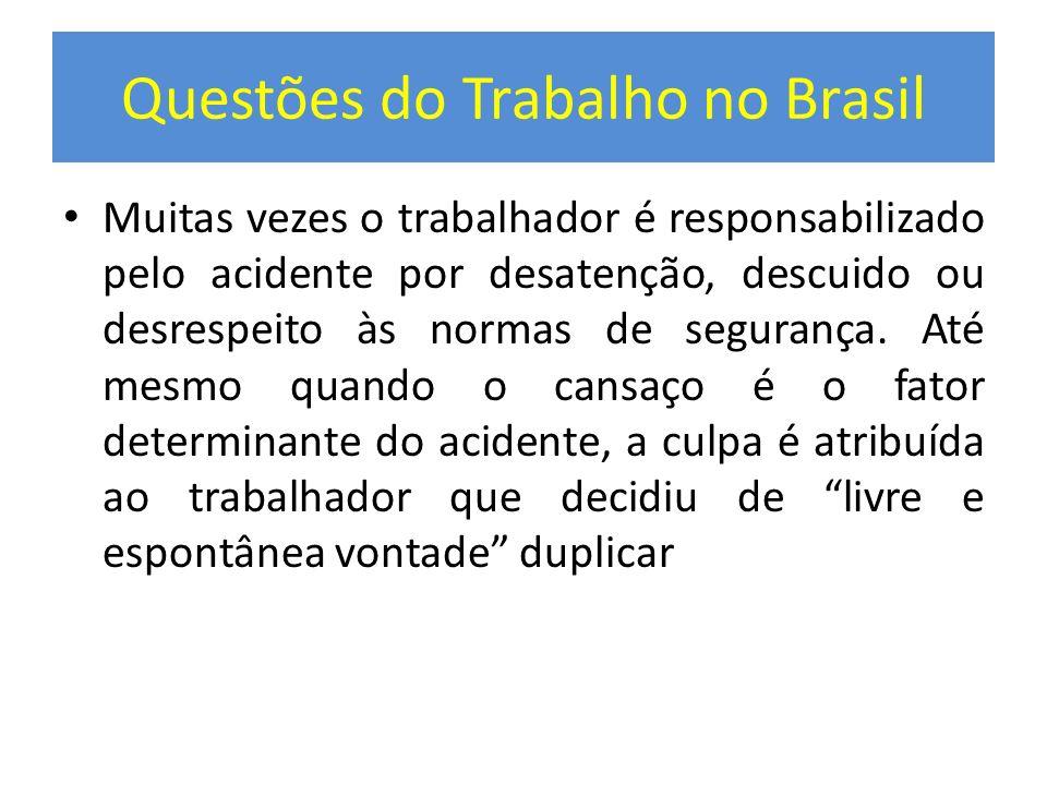 Questões do Trabalho no Brasil