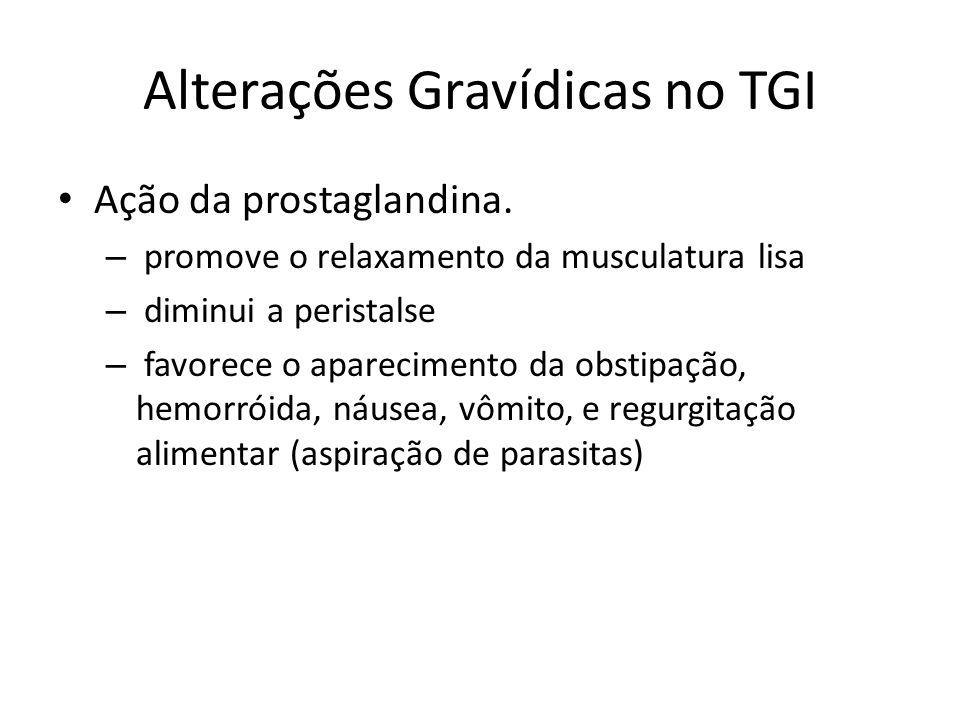 Alterações Gravídicas no TGI