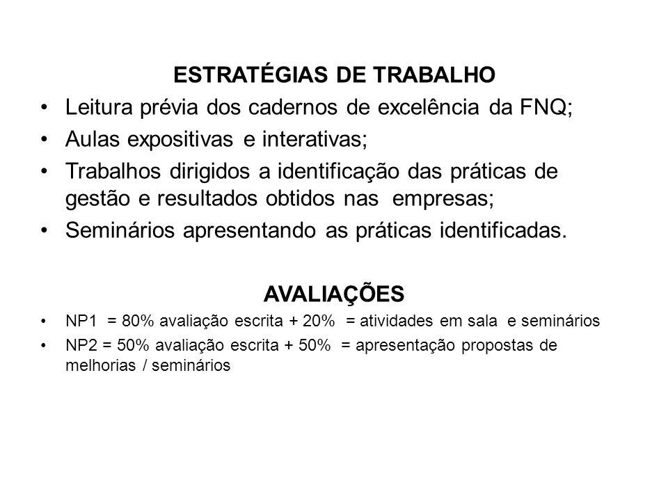 ESTRATÉGIAS DE TRABALHO