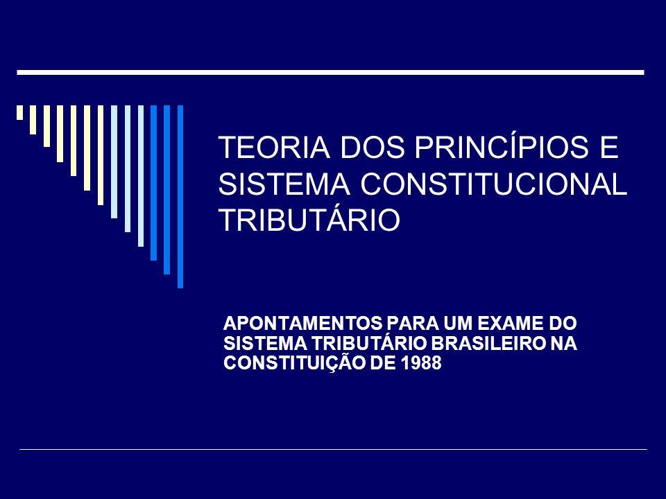 TEORIA DOS PRINCÍPIOS E SISTEMA CONSTITUCIONAL TRIBUTÁRIO