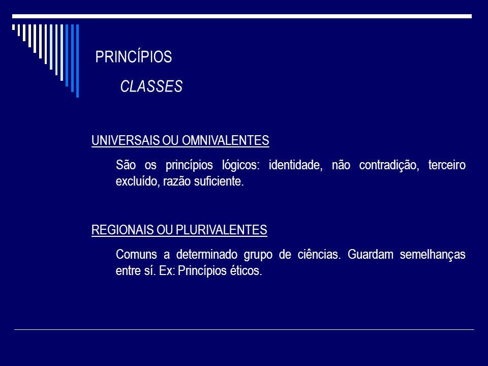 PRINCÍPIOS CLASSES UNIVERSAIS OU OMNIVALENTES