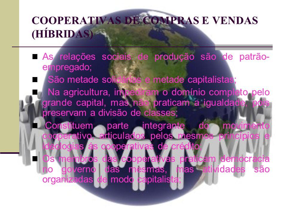 COOPERATIVAS DE COMPRAS E VENDAS (HÍBRIDAS)