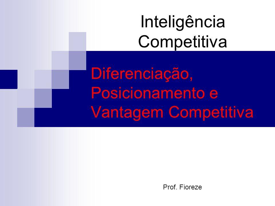 Diferenciação, Posicionamento e Vantagem Competitiva