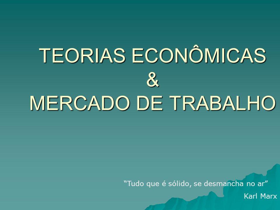 TEORIAS ECONÔMICAS & MERCADO DE TRABALHO