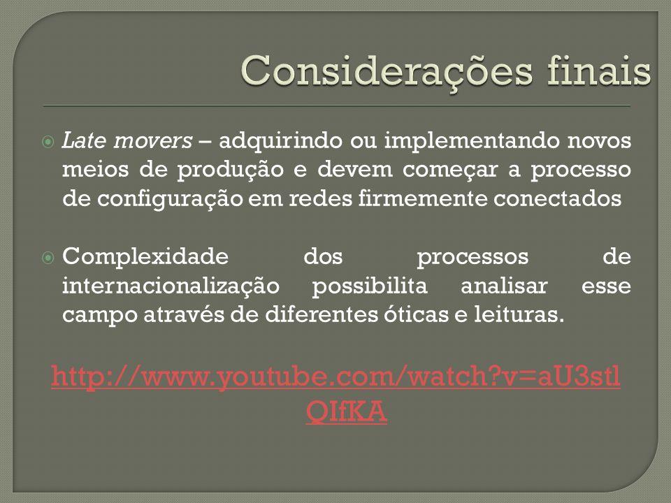 Considerações finais http://www.youtube.com/watch v=aU3stlQIfKA
