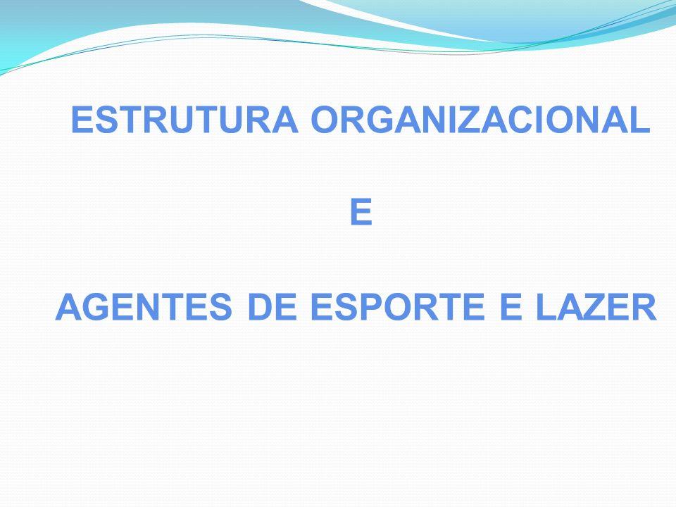 ESTRUTURA ORGANIZACIONAL E AGENTES DE ESPORTE E LAZER