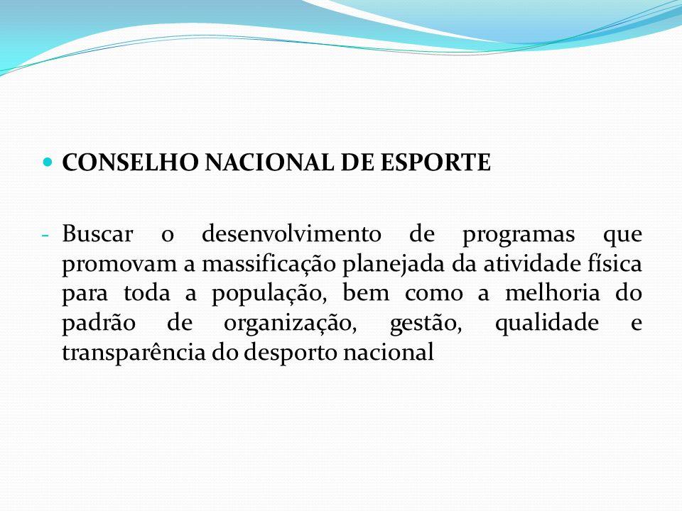 CONSELHO NACIONAL DE ESPORTE