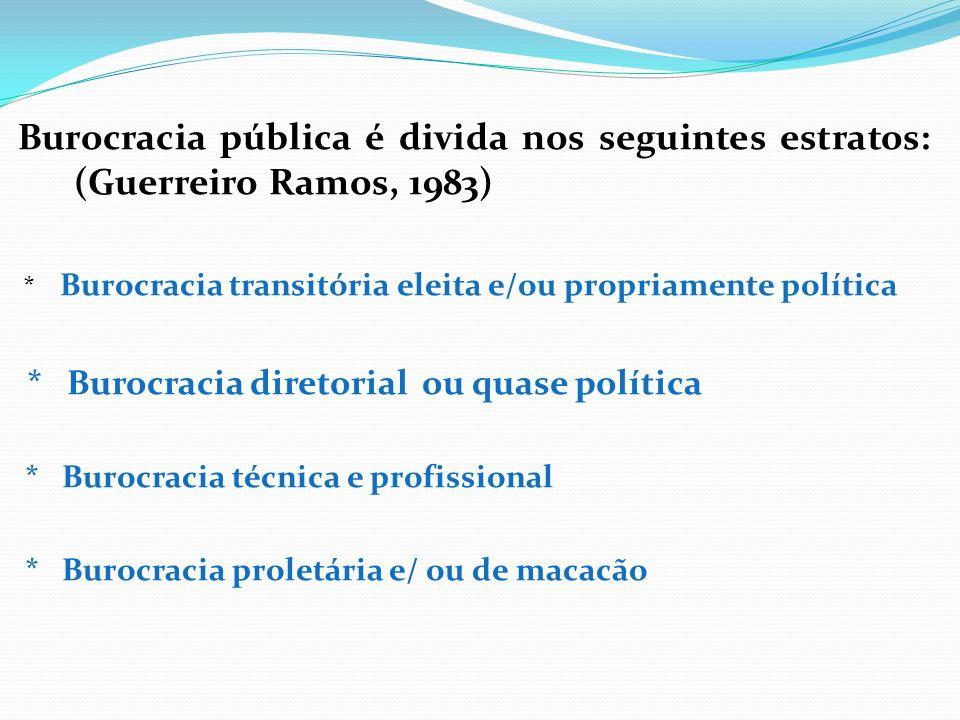 * Burocracia diretorial ou quase política