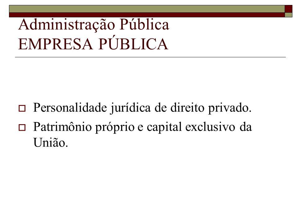 Administração Pública EMPRESA PÚBLICA