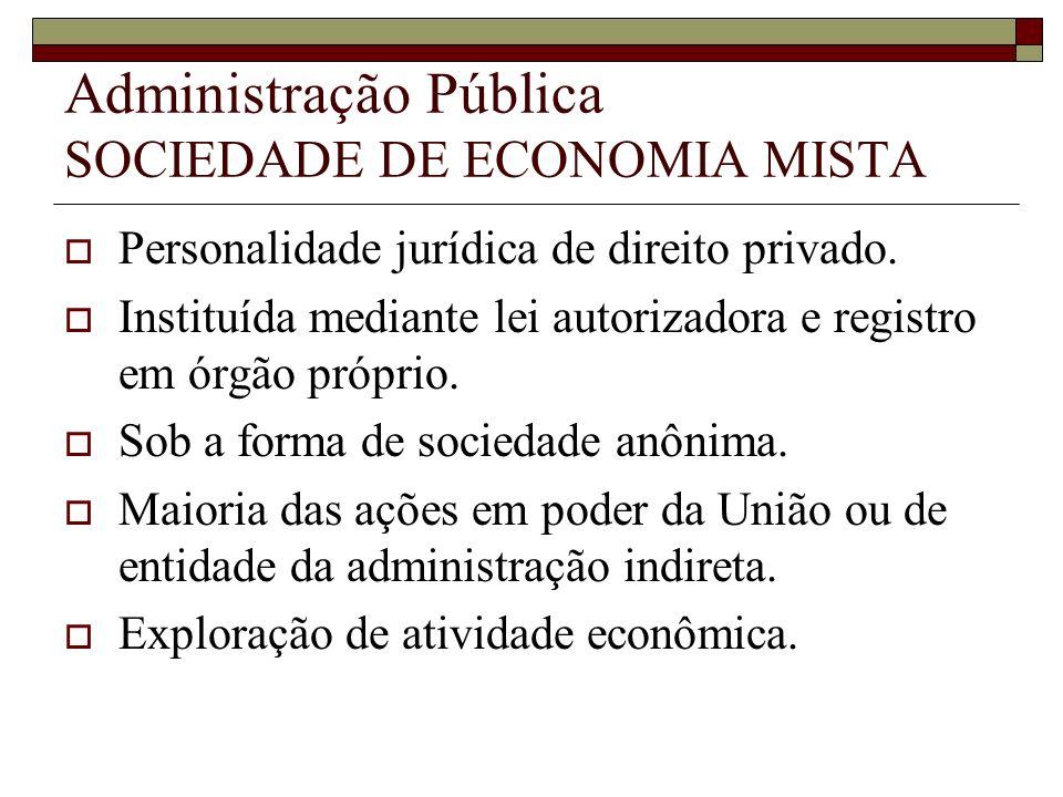Administração Pública SOCIEDADE DE ECONOMIA MISTA