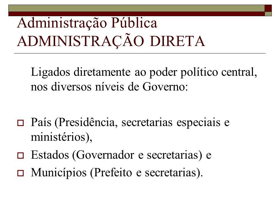 Administração Pública ADMINISTRAÇÃO DIRETA