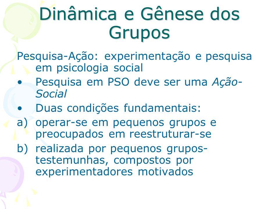 Dinâmica e Gênese dos Grupos