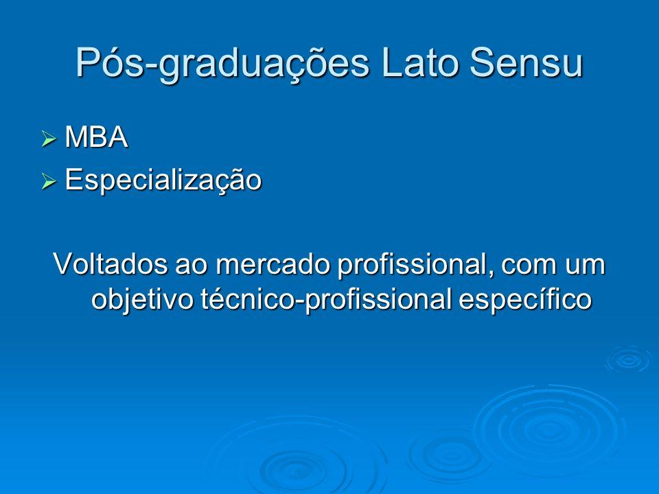 Pós-graduações Lato Sensu