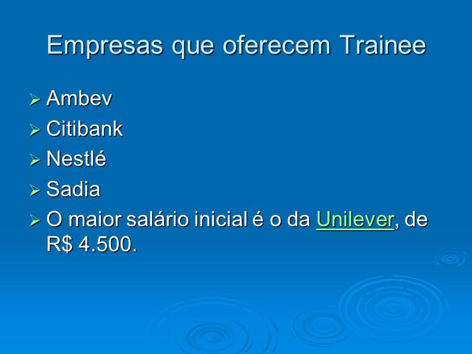 Empresas que oferecem Trainee