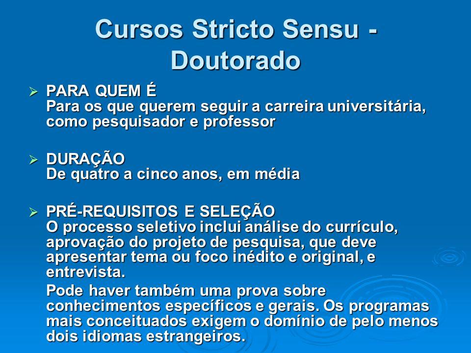 Cursos Stricto Sensu - Doutorado