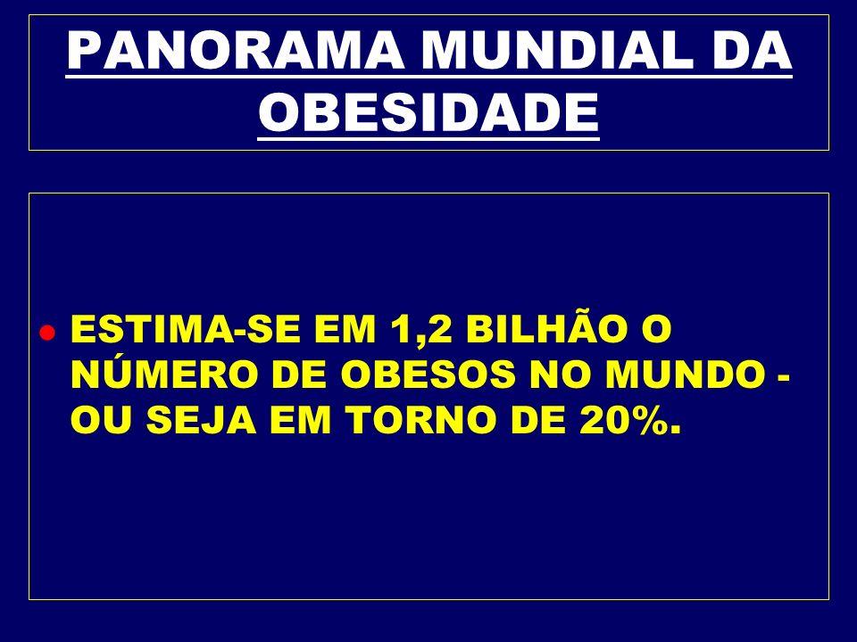 PANORAMA MUNDIAL DA OBESIDADE