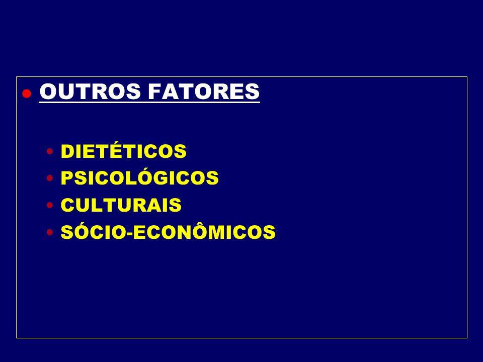 OUTROS FATORES DIETÉTICOS PSICOLÓGICOS CULTURAIS SÓCIO-ECONÔMICOS