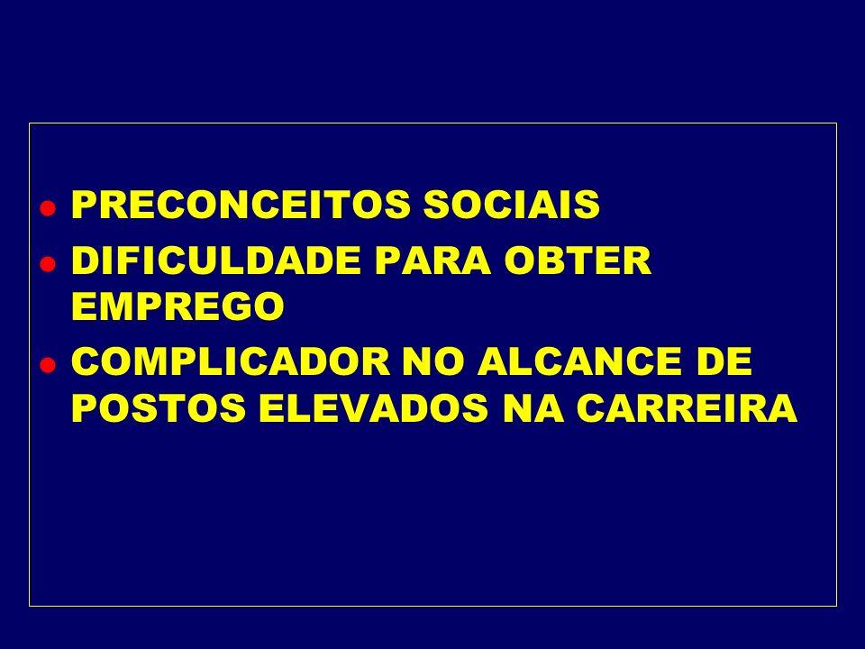 PRECONCEITOS SOCIAISDIFICULDADE PARA OBTER EMPREGO.