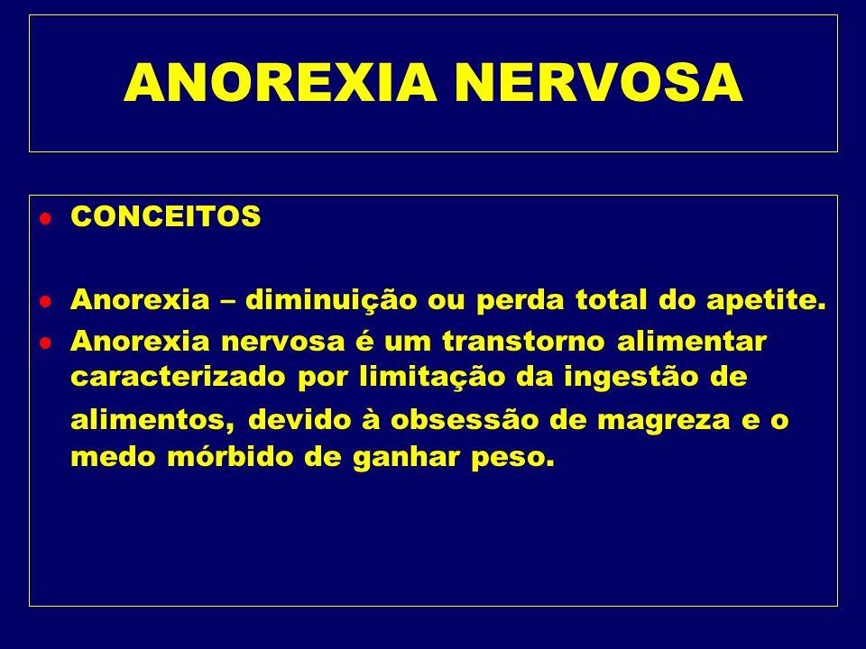 ANOREXIA NERVOSA CONCEITOS