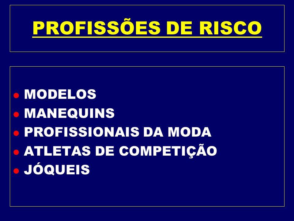 PROFISSÕES DE RISCO MODELOS MANEQUINS PROFISSIONAIS DA MODA