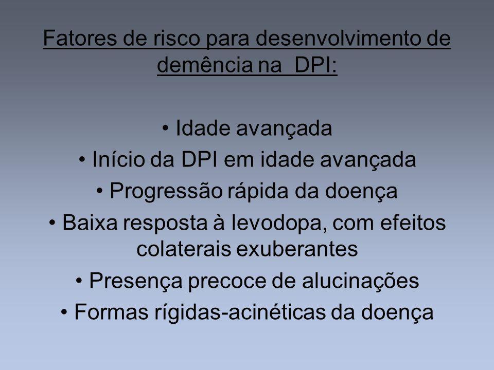 Fatores de risco para desenvolvimento de demência na DPI: